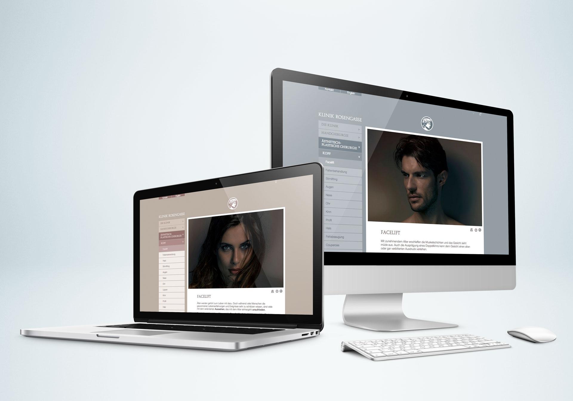 Klinik Rosengasse Website